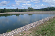 Wastewater treatment ponds at Shafer, MN