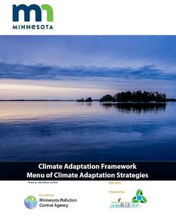 Climate Adaptation Framework Menu of Climate Adaptation Strategies cover page