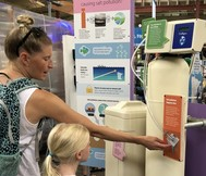 Water softener exhibit at Eco Experience at Minnesota State Fair 2018
