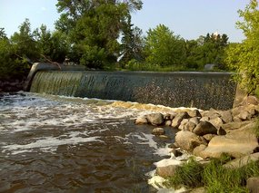 Dam on Tamarac River a blockage to fish passage