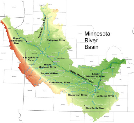 minnesota river basin map