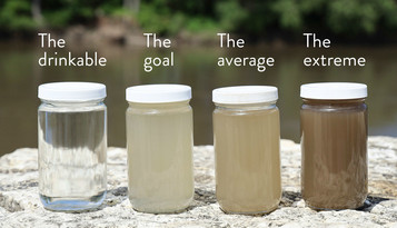 sediment jars minnesota river