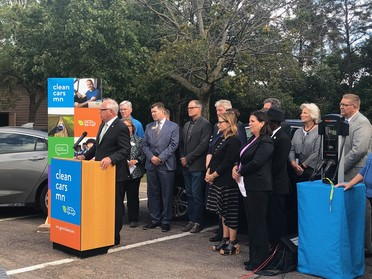 Governor Walz announcing Clean Cars Minnesota rulemaking