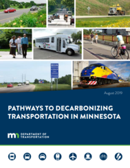 Pathways to Decarbonizing Transportation in Minnesota report cover image