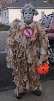 """Wipes monster"" joins Halloween parade in Winnebago, MN 2019"