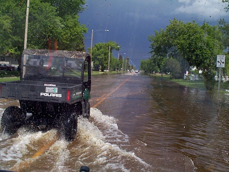 flooding street