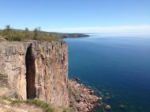 Blue sky over Lake Superior