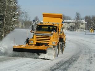 yellow snowplow
