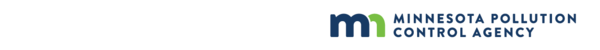 Minnesota Pollution Control Agency logo on white background