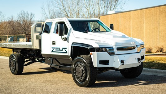 All electric truck