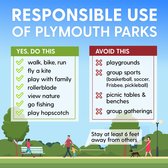 Responsible use of Plymouth parks and trails