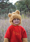 Boy dressed in bear costume