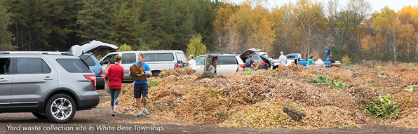 Yard Waste Collection site in White Bear Township