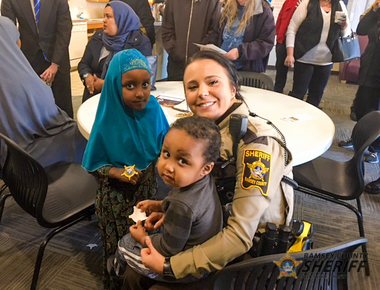 Deputy Loe at Coffee with a Cop