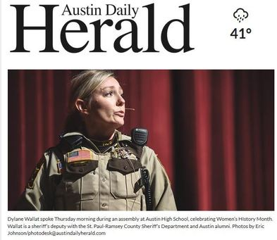 Dylane Wallat in Austin Daily Herald
