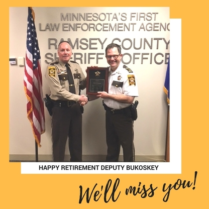 Deputy Bill Bukoskey retirement canva graphic