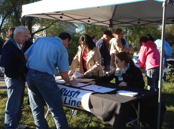Public engagement on trail