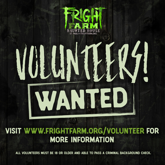 Fright Farm Volunteer graphic