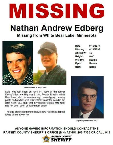 Nathan Edberg missing poster
