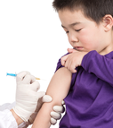 Child getting an immunization.