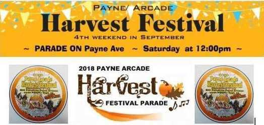 Harvest Festival announcement