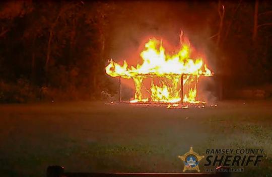 Arson fire Arden Hills