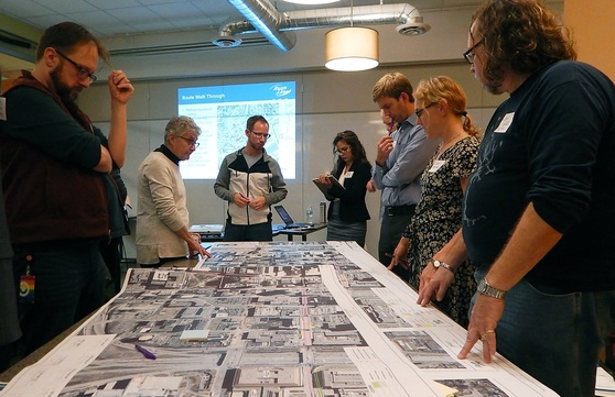 Community Advisory Committee members provide feedback on Rush Line plans