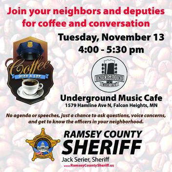 Coffee w a Cop November 13 2018