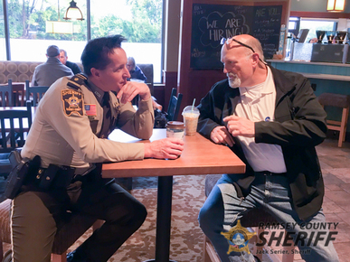 Ramacher at Coffee with a Cop Oct 2018