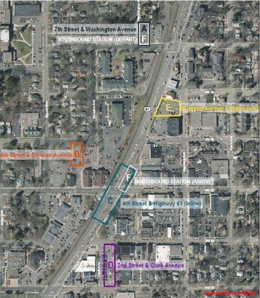 Downtown White Bear Lake Station Location Options