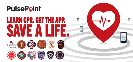 PulsePoint marketing banner. Learn CPR. Get the App. Save a life.
