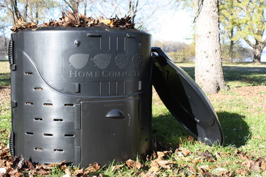 Backyard compost bin