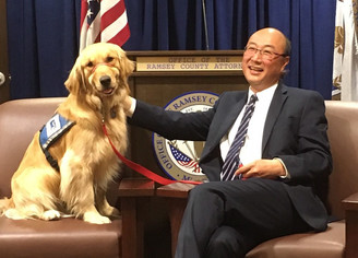 Norie and Ramsey County Attorney John Choi