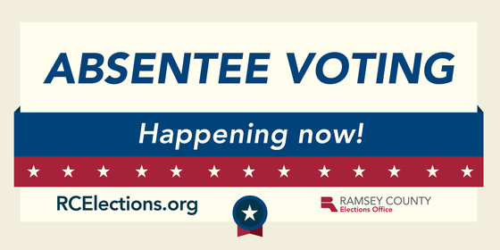 absentee voting is happening now