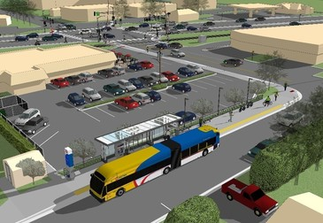 A rendering of the planned downtown White Bear Lake station at 7th Street and Washington Avenue