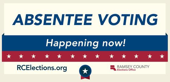 absentee voting happening now