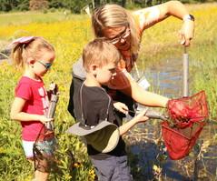 kids fishing at summer camp