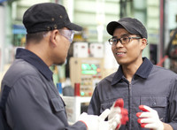 youth talking with employer