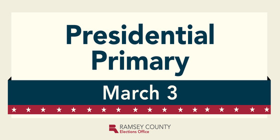 Presidential primary is March 3