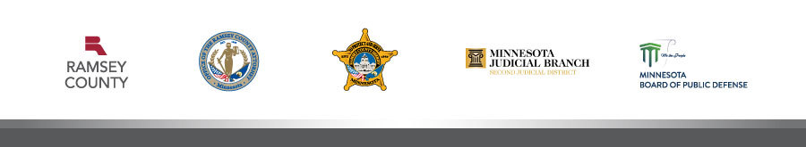 Ramsey County, Ramsey County Attorney's Office, Ramsey County Sheriff's Office, Second Judicial District and Public Defender's Office logos