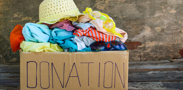 Box of clothing donations