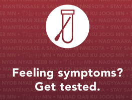 Get tested for COVID-19 if you're feeling symptoms
