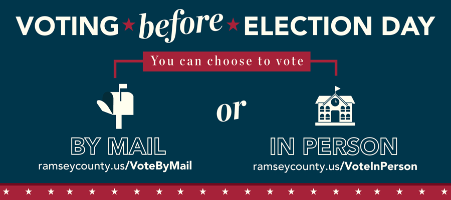 You can choose to vote by mail or in person