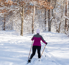 Resident cross country skiing