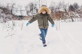 Winter parks kid