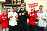SAHS students thumbs up