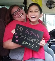 bus driver with student