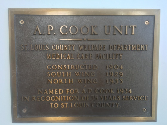 AP Cook plaque