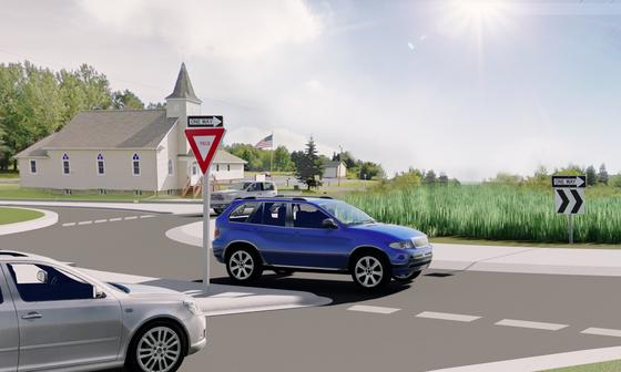 Hermantown roundabout artist rendering