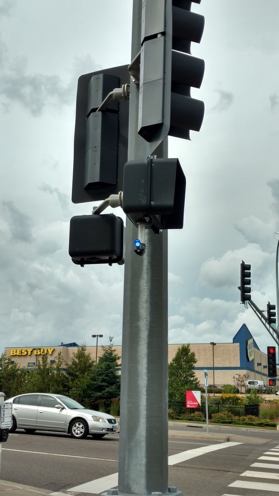 Blue light on signal
